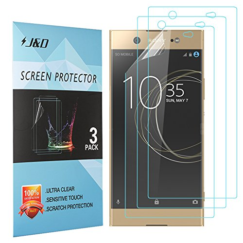 J&D Compatible for Sony Xperia XA1 Ultra Screen Protector (3-Pack), Not Full Coverage, HD Clear Protective Film Shield Screen Protector for Xperia XA1 Ultra Crystal Clear Screen Protector