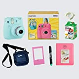 Instax mini 9 camera + twin film pack (10x2) + instax carry case + batteries lr6 + photo frame + album + photo marker + strap + instruction manual + warranty card Selfie mirror - you can check your framing with the mirror next to the lens High-key mo...