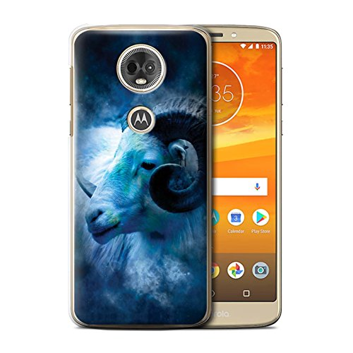 Stuff4 telefoonhoesje/hoes voor Motorola Moto E5 Plus 2018/Aries/Ram Design/Zodiac Star Sign Collection