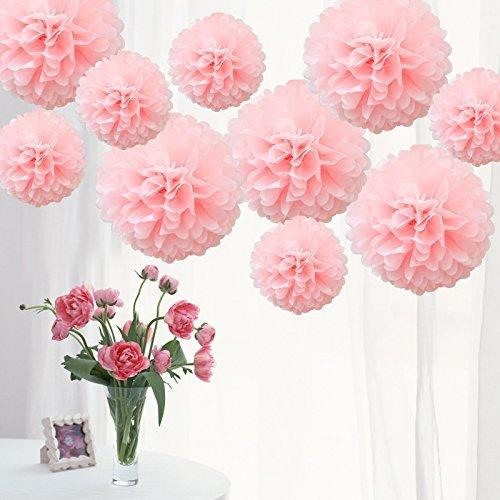 Lot de 10 pompons en papier de soie pour décoration de fête d'Halloween, fête du Nouvel An, mariage, autres décorations de fête - 20,3 cm