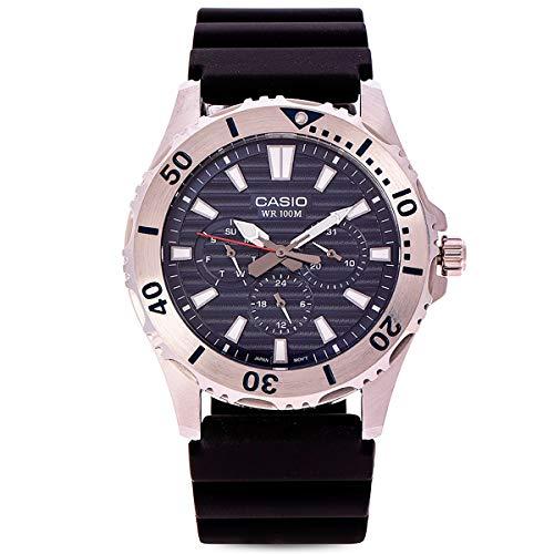 Casio Mtd-1086-1avdf Reloj Analogico para Hombre Colección Marine Sports Caja De Acero Inoxidable Esfera Color Negro