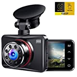 Dash Cam, AINHYZIC 1080P Dash Camera for Cars, 2.7' Touch Button Screen Car Driving Recorder with 170° Wide Angle and Infrared Night Vision, Motion Detection, G Sensor, Loop Recording, Parking Monitor