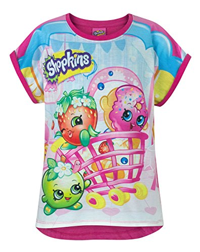 Shopkins All Over Girl's T-Shirt (5-6 Years)