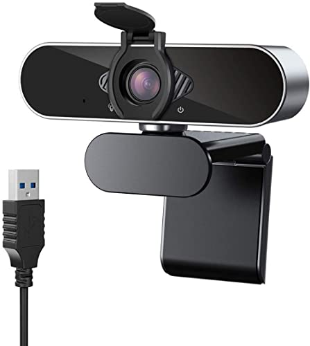 CASE U HW1 1080P Webcam with Microphone and Privacy Cover; 360° Rotation Plug and Play Pro Streaming USB 2.0 HD for V...
