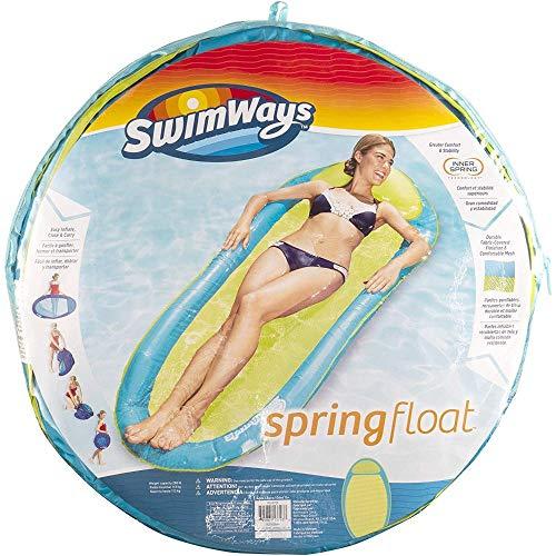 SwimWays 6045237 - Spring Float Original, einfach auffaltbare Wasserhängematte, farblich sortiert