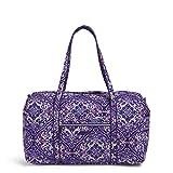 Vera Bradley Women's Signature Cotton Large Travel Duffel Bag, Regal Rosette, One Size