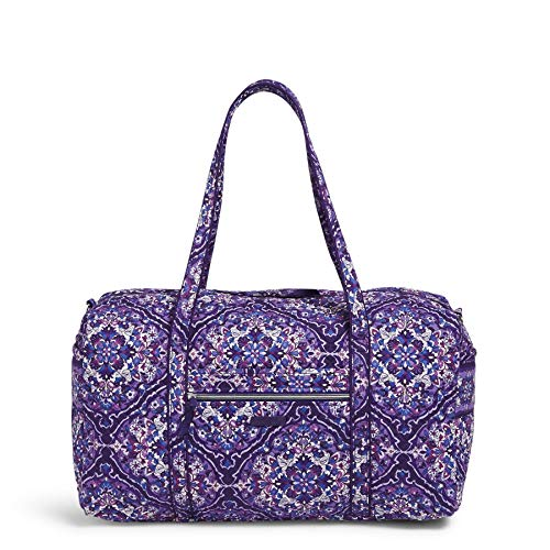 Vera Bradley Women's Signature Cotton Large Travel Duffel Travel Bag, Regal Rosette, One Size