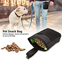犬用 訓練バッグ おやつ お菓子 小物入れ 餌入れ 携帯用 多機能 オックスフォード布 ペットトレーニングポーチ ペットフードバッグ 散歩用 (black)