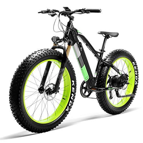 """LANKELEISI XC4000 Wholesale Tire City Bicicletta elettrica per Adulti e Bicicletta ausiliaria 500W 36V 18AH Mountain Bike Snow Bicicletta per Bicicletta 26\""""con Shimano Disc Brake"""