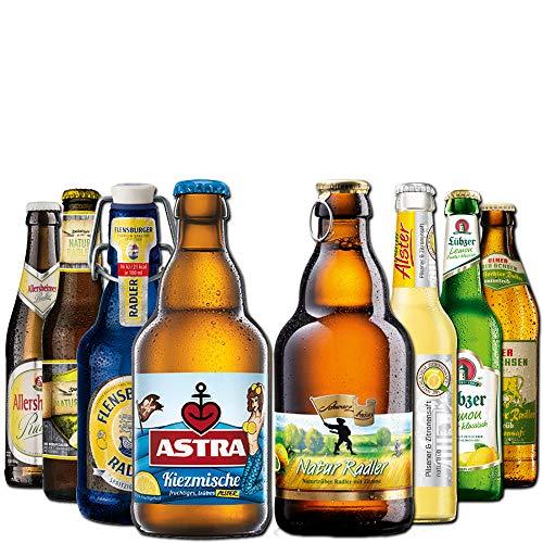 Radler Geschenkpaket von BierSelect - 8 Flaschen Radler und Alster in einem Paket - Geschenkidee zum Geburtstag, Ostern, Vatertag oder Weihnachten für den Mann, Vater, Freund oder Opa