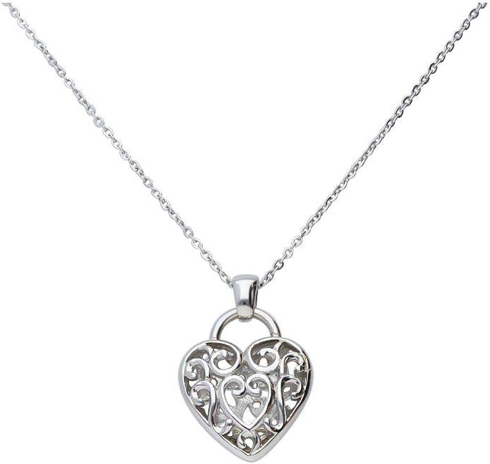 Stroili  collana per donna in acciaio con charm cuore 1666054