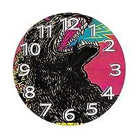 Clock Number 掛け時計 おしゃれ 連続秒針 静音 25cm 簡単 北欧 時計 壁掛け 電池式 円形 部屋装飾 プレゼント