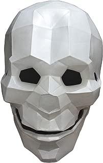 Latex Full Face Low-Poly Skull Mask