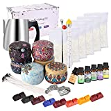 Candle Making Kit Supplies,Complete DIY Beginners Set with 3LB Soy Wax, Fragrance Oil, Cotton Wicks, Pot, Tins, Dyes &...