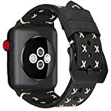 MroTech Armband kompatibel für iWatch 40mm Lederarmband 38mm Watch Band Leder Vintage Uhrenarmband...