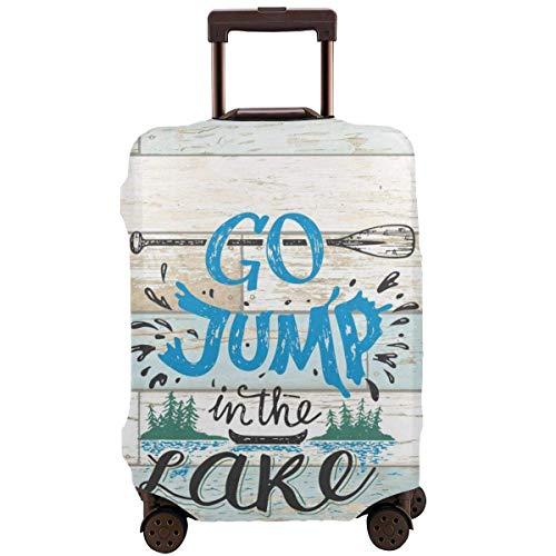 Protector de Maleta de Viaje Go Jump in The Lake Cabin Funda de Equipaje Vintage Funda Protectora de Maletero de Viaje Fundas Protectoras de Maleta elástica Se Adapta a Equipaje de 18 a 21 Pulgadas