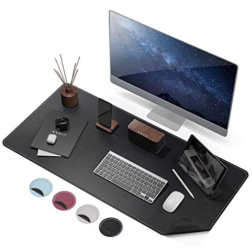 Anti-Slip Desk Pad Protector, Waterproof PU Leather with Non-Slip Rubber Desk Mat, Large Mouse Pad Desk Writing Mat for Office/Home Use