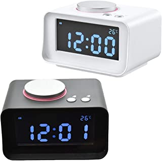 Alarm Clocks - 1pc Digital Alarm Clock Fm Radio Loud With Dual Usb Charging Ports Home Decoration - Nature Cube Vintage Dock Charging Hearing Auto Under Girls Loudest Equity Quiet Alarm On