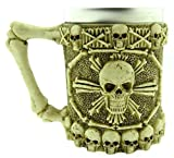 Taza de Calavera Pirata - 3D - Calavera - Esqueleto - Acero Inoxidable - Resina - Jarra de Cerveza - Horror - gótico -...