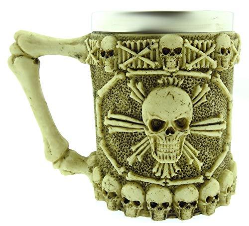 Taza de Calavera Pirata - 3D - Calavera - Esqueleto - Acero...