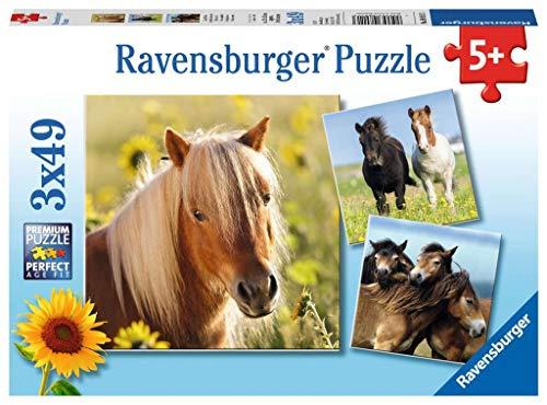 Ravensburger- Puzzle Infantil con diseño de Caballos, Color marrón (80113)