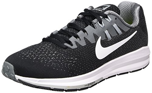 Nike Air Zoom Structure 20, Zapatillas de Trail Running para Hombre, Negro (Black/White/Cool Grey/Wolf Grey), 40 EU