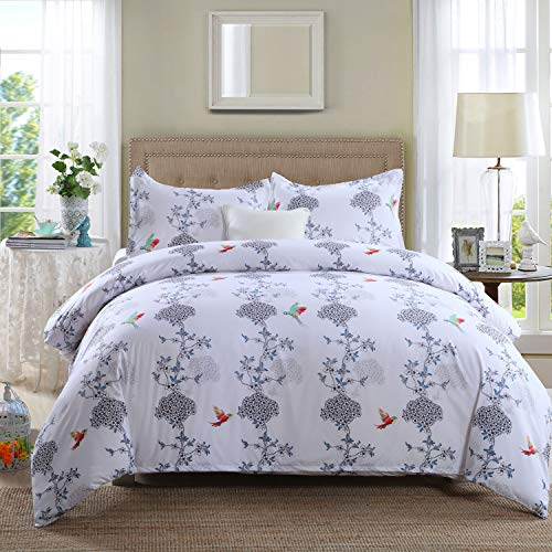 GOOFUN-J2K 3pcs Duvet Cover Set Bedding Set 1 Duvet Cover 2 Pillow Shams Lightweight Microfiber Well Designed Print Pattern Comfortable, Breathable, King Size