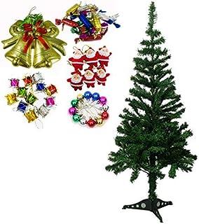 Evisha 4 feet Long Artificial X-Mass Christmas Tree and 43 pcs Hangings Ornaments