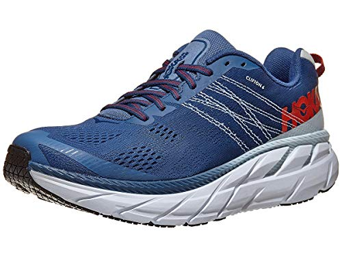 Hoka One One Clifton 6 Mens - Mandarin Red Imperial Blue - 9 UK