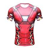 Camiseta de compresión de manga corta Born2RideTM, interior, térmica, ideal para gimnasio o...