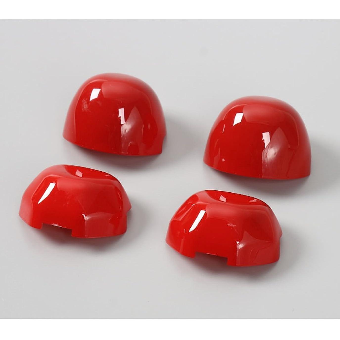 ケーブル反対キャンドルJicorzo - Car-Styling Seat Safety Belt Cap Cover Lid Trim Interior Chrome ABS Stickers Decor Car Accessories For Suzuki Jimny 2007-2015 [Red]