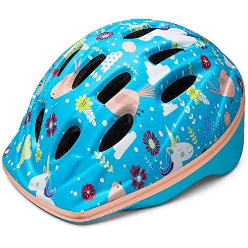 OutdoorMaster Toddler Kids Bike Helmet - Multi-Sport 2 Sizes Adjustable Safety Helmet for Children...