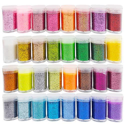 Glitzer-Puder, feiner Schleim-Glitzer, Glitzer-Set für Kunst und Handwerk, Farbe, Scrapbooking, Nägel, Lidschatten
