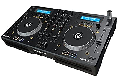 Numark Mixdeck Express | 2-Channel DJ Controller / Standalone Media Player with CD / CD MP3 and USB Playback, Dual Channel Mixer, Multi-Function Jog Wheels and Serato DJ Intro Included from inMusic Brands Inc.