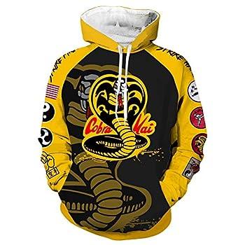 LILLIWEEN Karate Dojo Hoodie Cosplay Costume 3D Printed Jacket Pullover Sweatshirt Shirt M