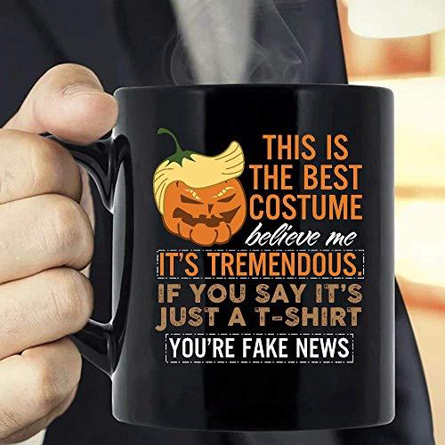 Taza El mejor disfraz de Trumpkin Trump Crame de Halloween