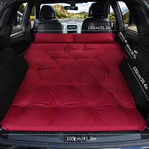 LTE Automatisches aufblasbares Bett SUV dediziertes Auto Reisebett Kofferraumluftkissen Offroad-Fahrzeug Auto Matratze Autobett, Doppelrotrot
