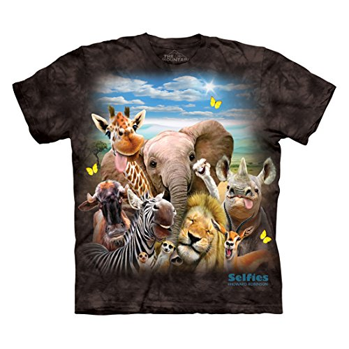 The Mountain African Selfie - Camiseta para hombre - negro - XXX-Large