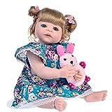 QQZQQ Muñeca Reborn Girls, Rubio Cabello Rizado Newborn Dolls Chirldren Regalos de cumpleaños Azul Ojos Muñeca Magnet Hecho A Mano Magnet Villifier 1227dmsjwawa-2426
