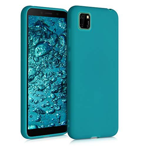 kwmobile Cover Compatibile con Huawei Y5p - Cover Custodia in Silicone TPU - Backcover Protezione Posteriore- Petrolio Matt