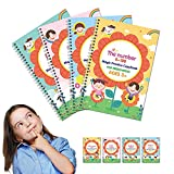 Magic Practice Copybook For Kids Handwriting Practice Drawing Book Calligraphy Pens Set For Education Supplies Preschool Workbooks Age 3-5 (Extra Large)