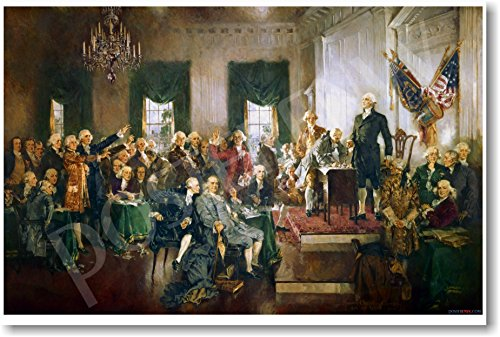 Howard Chandler Christy - Scene At the Signing of the Constitution of the United States - 1940 - NEW Fine Arts Poster