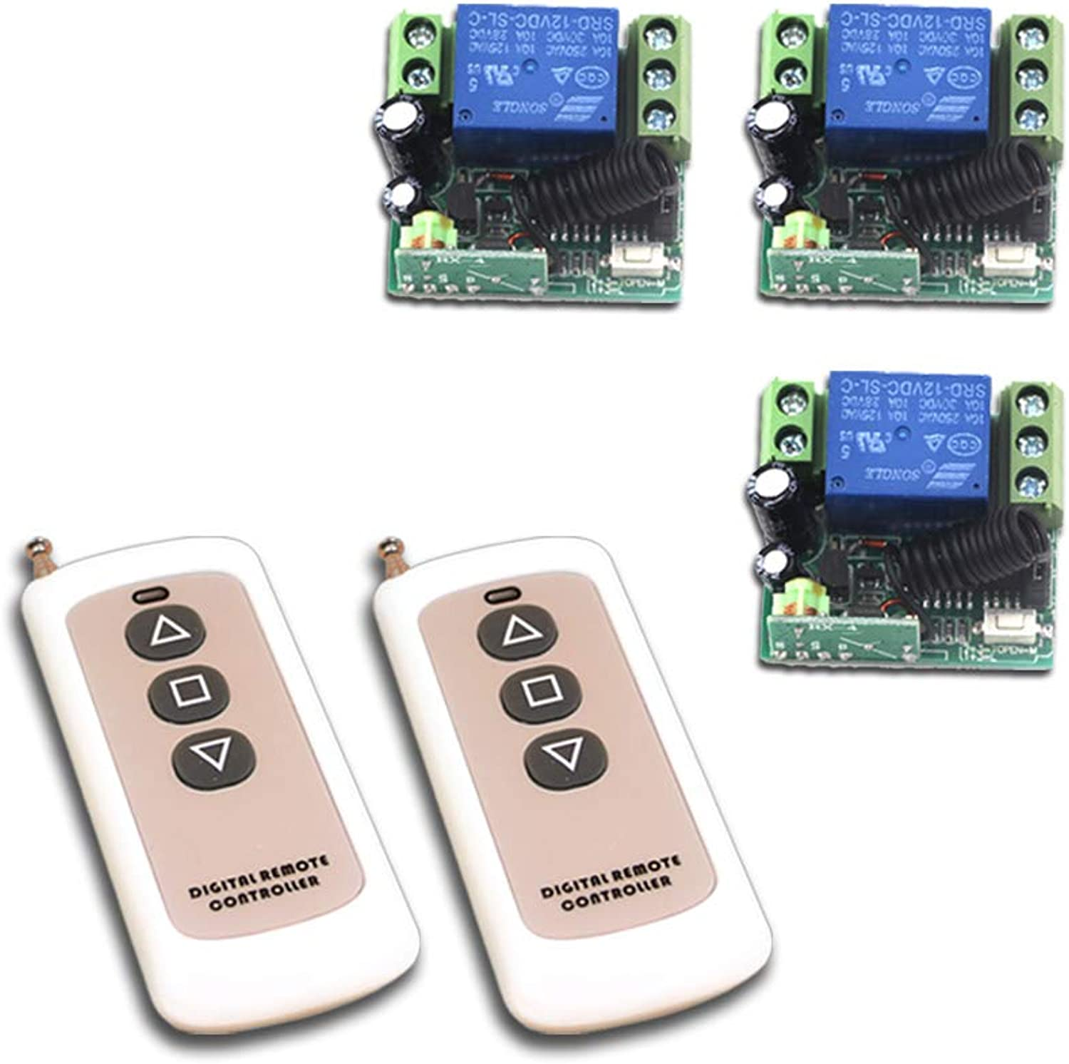Best Price 12V 1CH Wireless Remote Control Switch System Transmitter Receiver Mini Size 315 433MHZ Access Door Control System  (color  DC12V Mini 315MHZ)