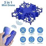 Seamuing Mini Drone para Niños con Cámara 1080P HD Drone RC Desmontable Wi-Fi Fpv Mini Drone con Ventiladores de Mano de 3 Velocidades Y Power Bank para Principiantes Que Viajan Alpinismo