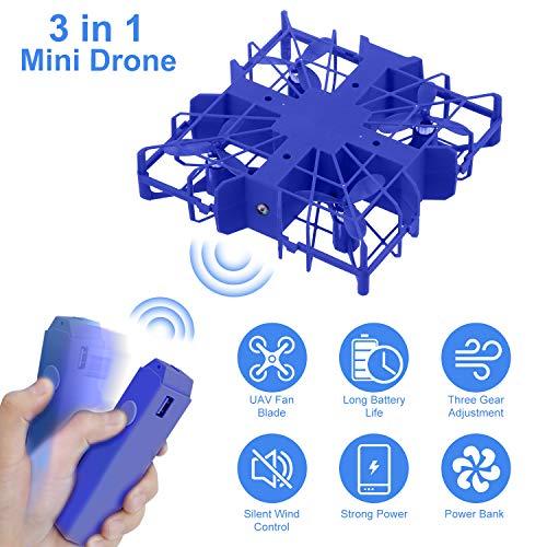 Seamuing Mini Drone pour Enfants Mini Drone RC Rechargeable Détachable avec 1080 Hd Caméra USB Poignée Ventilateurs Banque DAlimentation pour Les Voyages