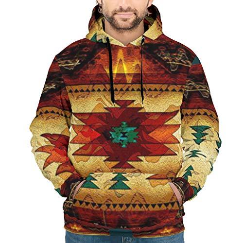 Dofeely rode mandala kunst rooster 3D print mannen hoodie hoodie gym top met zakken trekkoord S-5XL Gift for Family