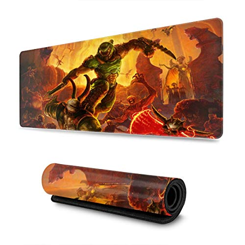 Doom Mouse Pad Rectangle Non-Slip Rubber Electronic Sports Oversized Large Mousepad Gaming Dedicated,for Laptop Computer & PC 11.8X31.5 Inch