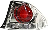 Evan-Fischer Tail Light Lens and Housing Compatible with 2002-2003 Lexus IS300 Outer Metallic Sedan Passenger Side