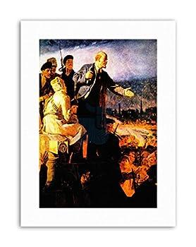 Wee Blue Coo Paintings Russian Revolution Lenin Painting Portrait Canvas Art Prints