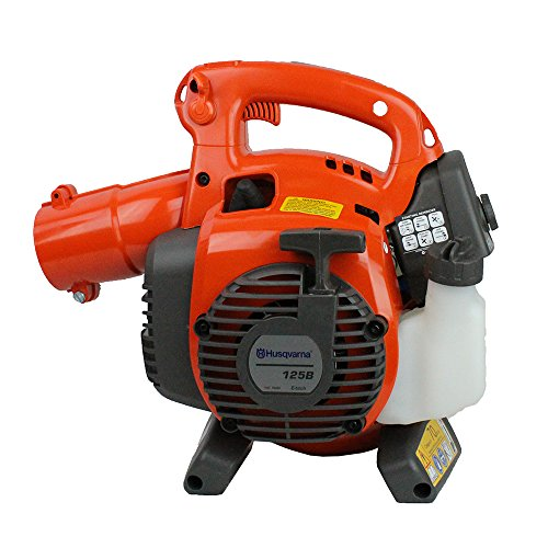 Husqvarna 125B Handheld Leaf Grass Blower 28cc Gas Powered 170mph (Renewed)